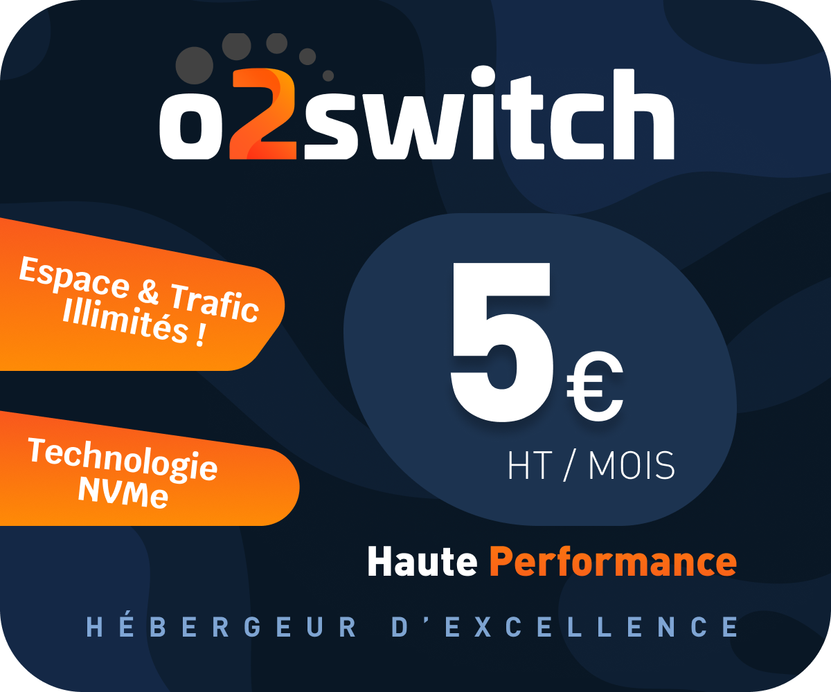 Offre d'hébergement de votre site internet chez O2switch